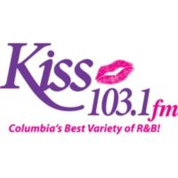 Logo of radio station WLXC Kiss 103.1