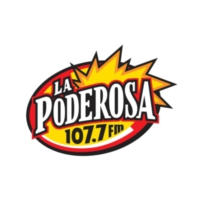 Logo of radio station XHYZ La Poderosa 107.7 FM