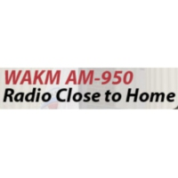 Logo of radio station WAKM AM-950