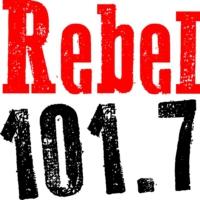 Logo of radio station CIDG-FM Rebel 101.7