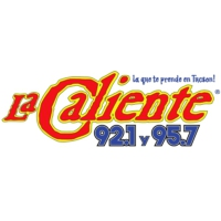 Logo of radio station KCMT La Caliente 92.1 & 95.7