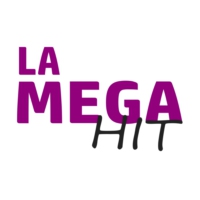 Logo of radio station La Mega Hit