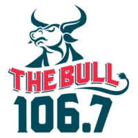 Logo de la radio KWBL 106.7 The Bull