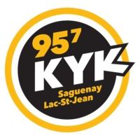 Logo of radio station 95.7 KYK