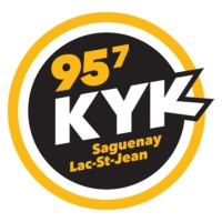 Logo of radio station 95.7 KYK