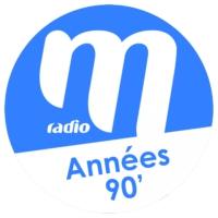 Logo of radio station M Radio - Années 90