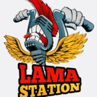 Logo of radio station L.A.M.A. Station