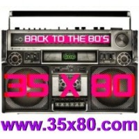 Logo of radio station 35x80 Back to the 80s