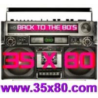 Logo de la radio 35x80 Back to the 80s