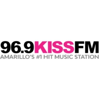 Logo of radio station KXSS-FM Kiss FM 96.9