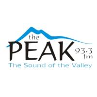 Logo of radio station CJAV-FM 93.3 The Peak
