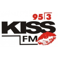 Logo of radio station XHROO Kiss 95.3 FM