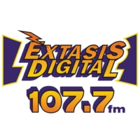 Logo of radio station XHASM Éxtasis Digital 107.7 FM