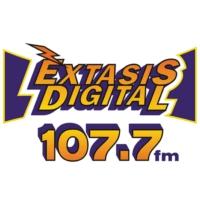 Logo de la radio XHASM Éxtasis Digital 107.7 FM