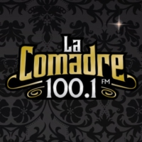 Logo of radio station XHNE La Comadre 100.1 FM