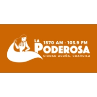 Logo of radio station XHRF La Poderosa 103.9 FM