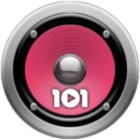 Logo of radio station 101.ru - Russia 90s
