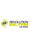 Logo of radio station Revolution 96.7