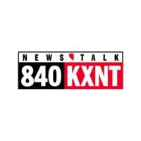 Logo of radio station KXNT 840 AM