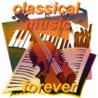Logo of radio station Classical music forever
