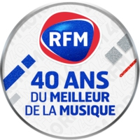 Logo of radio station RFM 40 ans