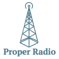 Logo of radio station Proper Radio