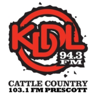 Logo of radio station KDDL 94.3 FM