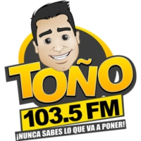 Logo of radio station XHRZ-FM Toño FM 103.5
