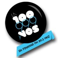 Logo de la radio LA 100 Pinamar