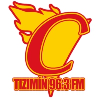 Logo de la radio XHUP Candela Tizimín 96.3 FM
