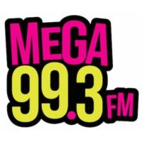 Logo of radio station KMGW Mega 99.3