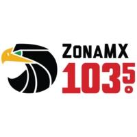 Logo de la radio KISF Zona MX 103.5 FM