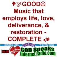 Logo de la radio GOD Speaks Internet Radio - :-) Come Worship Jesus with us! :-)