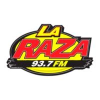 Logo of radio station KNOR La Raza 93.7