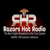 Logo de la radio Razors Hot Radio  KHHR-DB Adelanto Ca.