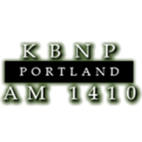 Logo of radio station KBNP AM 1410