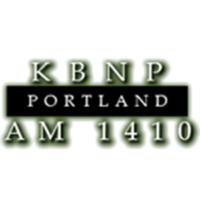 Logo of radio station KBNP AM 1410