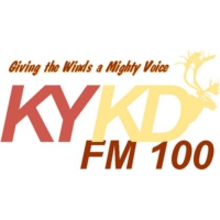 Logo of radio station KYKD FM 100