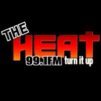 Logo de la radio The Heat 99.1 FM