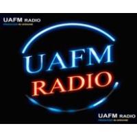 Logo of radio station UAFM