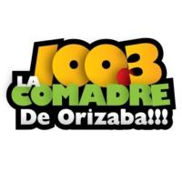 Logo of radio station XHPP La Comadre 100.3