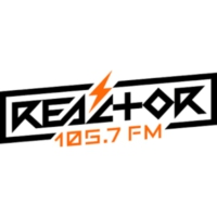Logo of radio station XHOF Reactor 105.7 FM