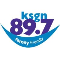 Logo of radio station 89.7 KSGN