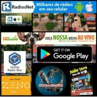 Logo de la radio radio .t. v .fm .povoado coqueiro .maranhao