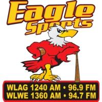 Logo de la radio WLWE Eagle Sports 94.7 & 1360