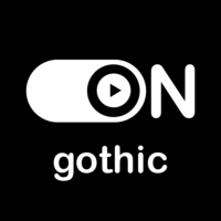 """Logo of radio station """"ON Gothic"""""""
