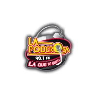 Logo of radio station XHMU La Poderosa 90.1 FM