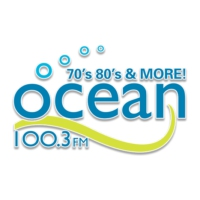 Logo of radio station CHTN-FM Ocean 100
