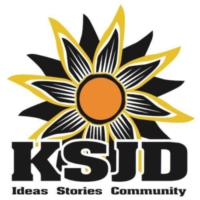 Logo of radio station KSJD Radio