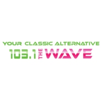 Logo of radio station KSQN 103.1 The Wave